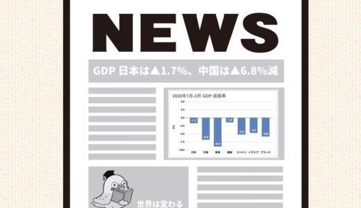 世界のGDPはどれだけ下がった?新型コロナによる影響・経済は記録的なマイナス成長へ