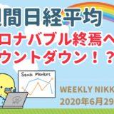 【週間日経平均】コロナバブル終焉へのカウントダウン