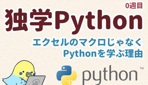 独学Python 0週目 エクセルのマクロじゃなくPythonを学ぶ理由