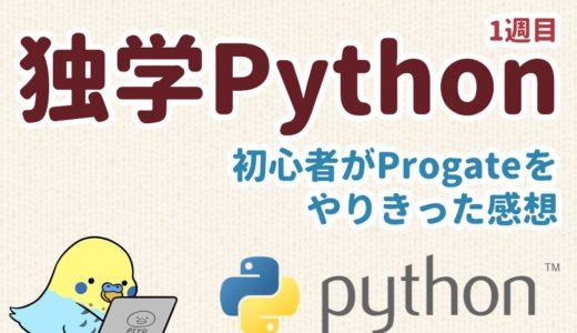 独学Python 1週目 初心者がProgateをやりきった感想