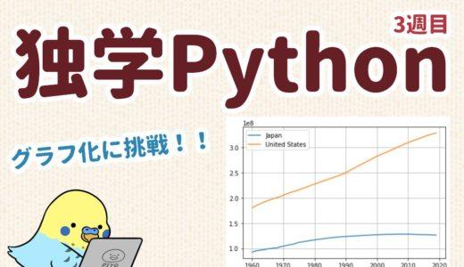 独学Python 3週目 グラフ化に挑戦