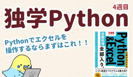 独学Python4週目 エクセルを操作するならこれ!!「できる 仕事がはかどるPython&Excel自動処理 全部入り」