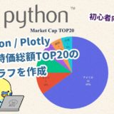 【Python】Plotlyを使って世界時価総額TOP20の円グラフを作成